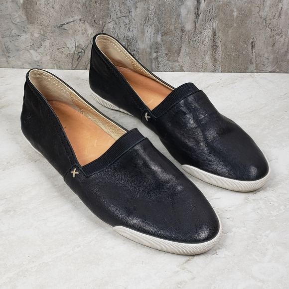 Frye Shoes | Melanie Black Leather Slip